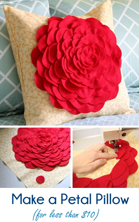 Make a super easy petal pillow for cheap!
