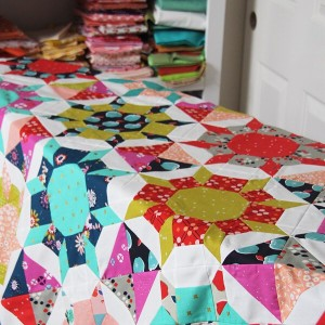 Happy weekend! I shared a little peeky of this quilthellip