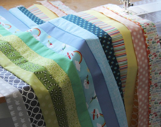 Strip and flip baby quilt cluck cluck sew solutioingenieria Gallery