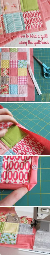 How to Bind a Quilt using the Backing