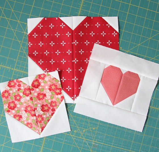 Free Heart Quilt Block Patterns : Making Heart Blocks in Multiple Sizes Cluck Cluck Sew