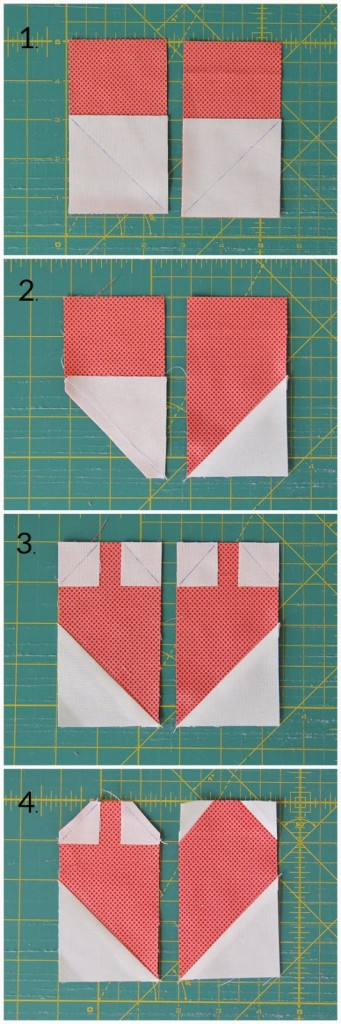 Making a Heart Quilt Block
