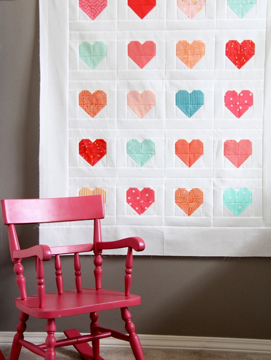 Simple Heart Quilt Cluck Cluck Sew