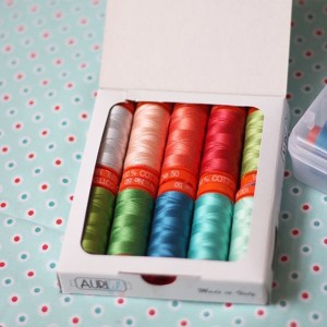 Pretty aurifilthread to match Hazel fabric! Related