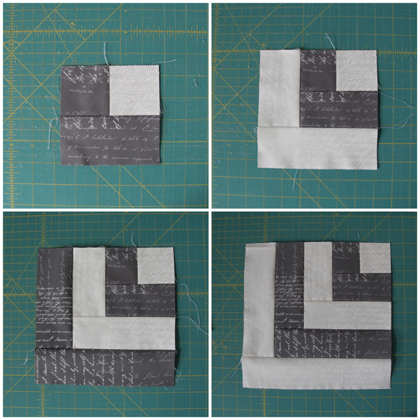 Making a Half Log Cabin Block Tutorial