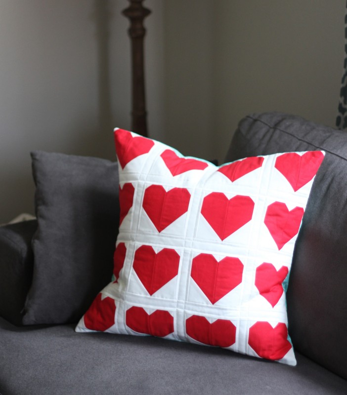Red Heart Pillow, Cluck Cluck Sew