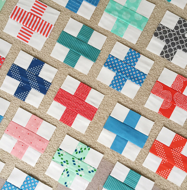 Plus Quilt In Red And Blue Cluck Cluck Sew