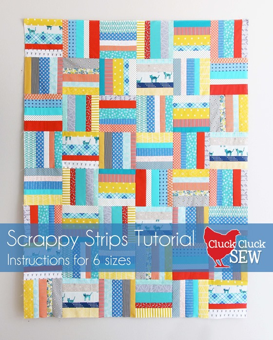 Scrappy Strips Quilt Tutorial in 6 sizes