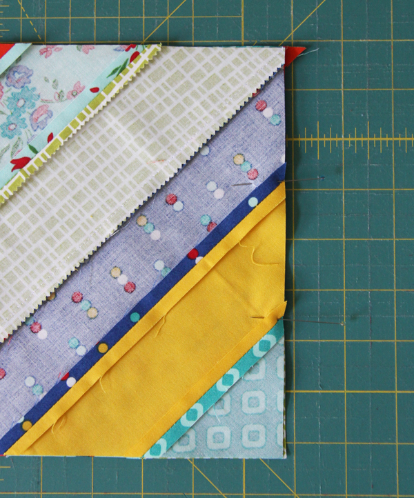 Diagonal Strip Quilt Tutorial | Cluck Cluck Sew