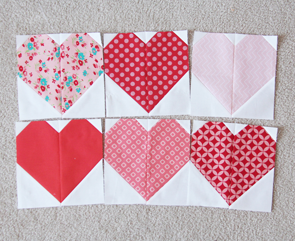 Free Heart Quilt Block Patterns : Hearts Roundup Cluck Cluck Sew