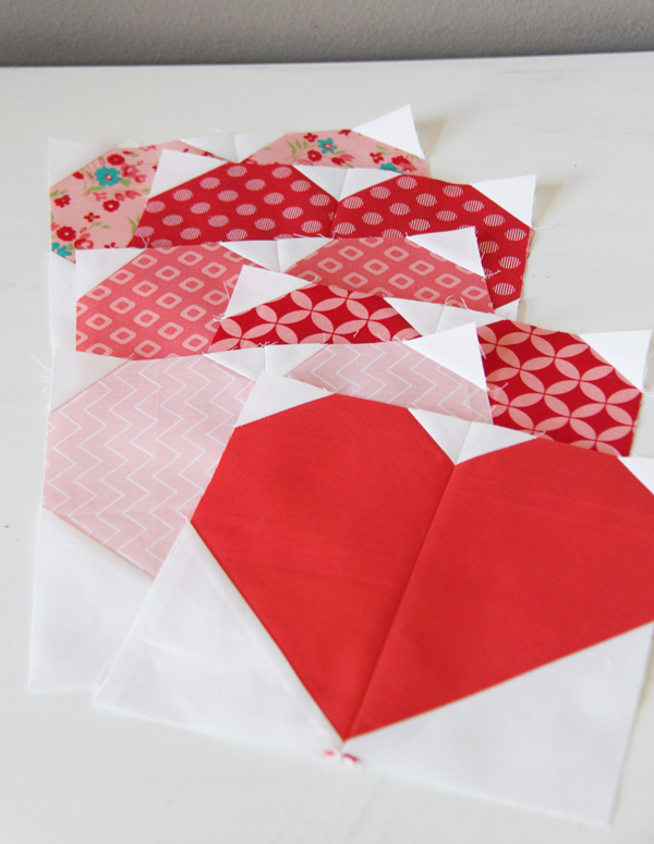 Heart Quilt Block Tutorial
