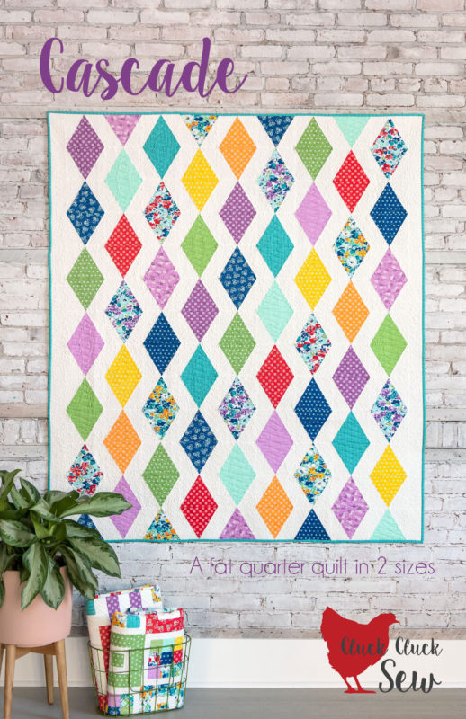 Cascade Quilt Pattern, 2 sizes, fat quarter friendly