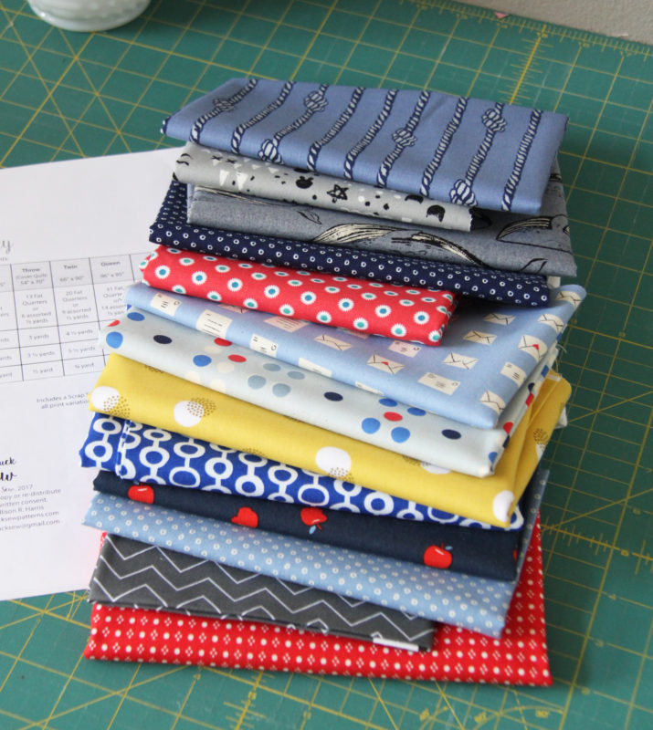Blues fabric stack