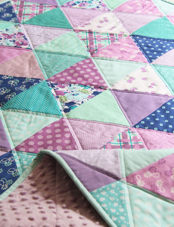 Lavender Blue Baby Quilt
