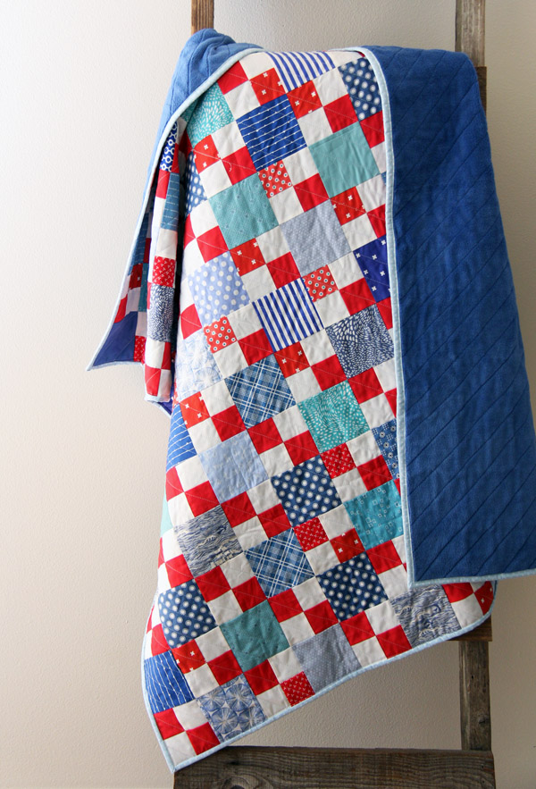 Scrappy Summer Pattern in Red, White, and Blue