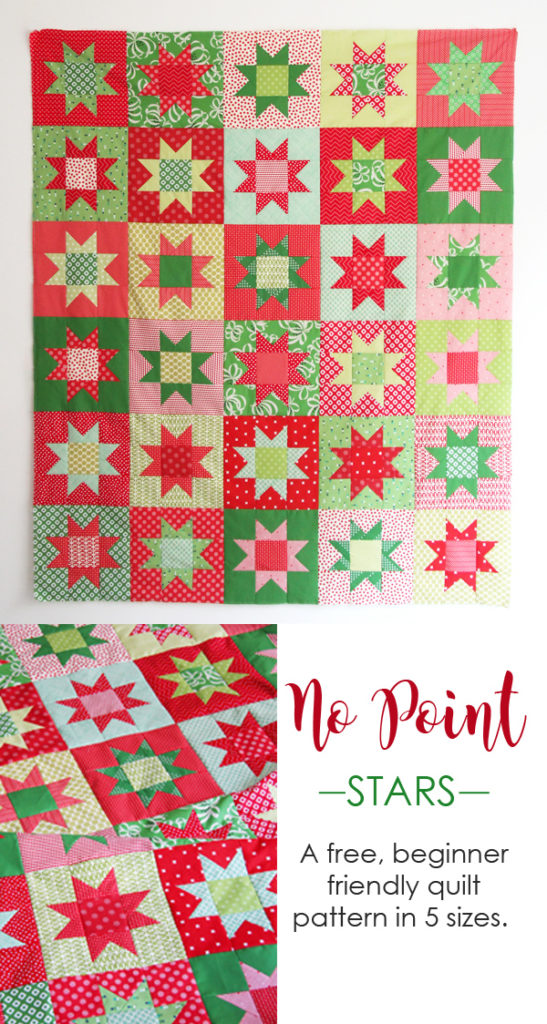 No Point Stars – A Free Printable Pattern in 5 sizes