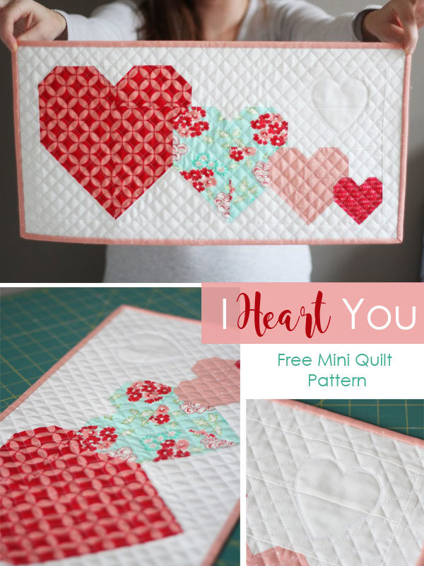 A Heart Pocket Pillow and hanging a quilt