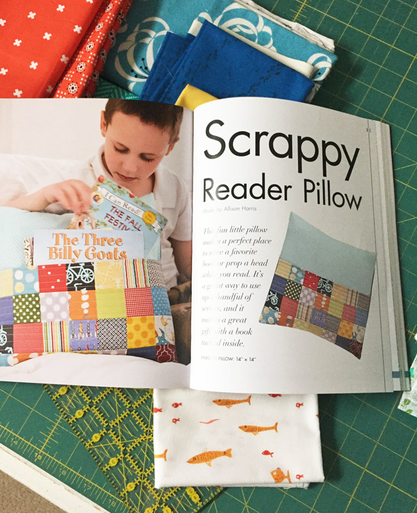 Scrappy Reader Pillow