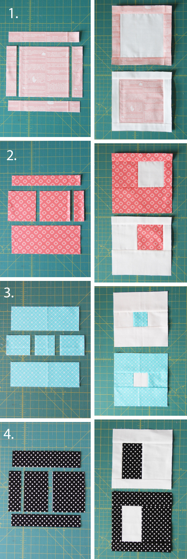 Easy Stack, Cut, and Sew Blocks