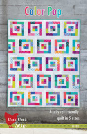 Color Pop, Jelly Roll Quilt Pattern in 5 sizes