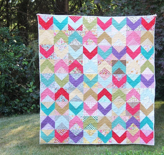 Scrappy Chevron Quilt
