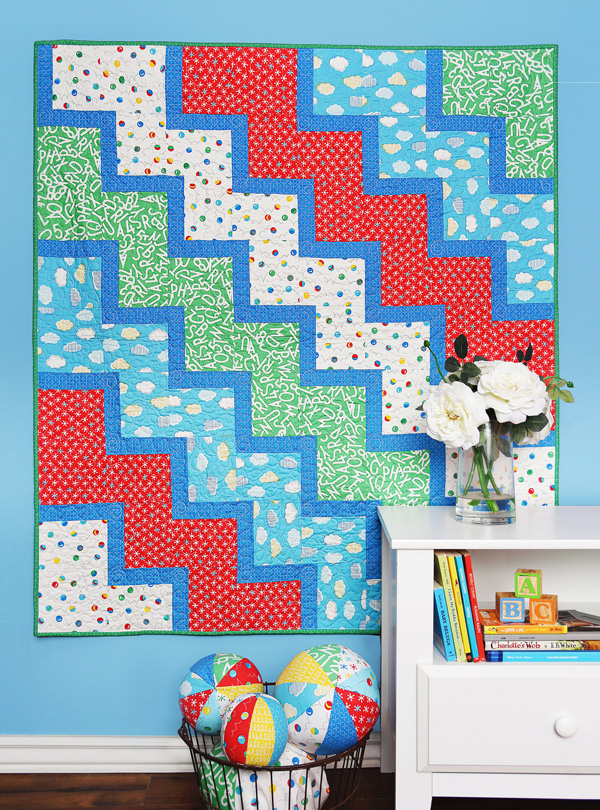 Ziggy Baby Quilt in Bounce Fabrics