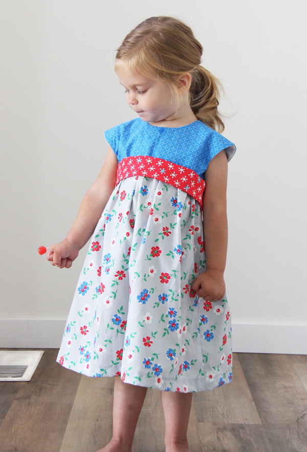 Geranium Dress Sewing Pattern in Bounce