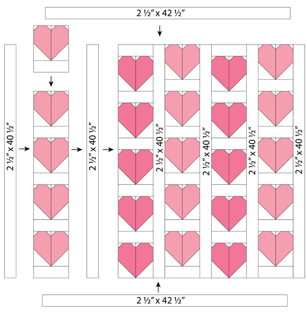 Free Heart Quilt pattern