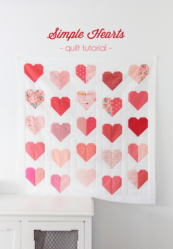 Simple Heart Quilt Free Quilt Pattern