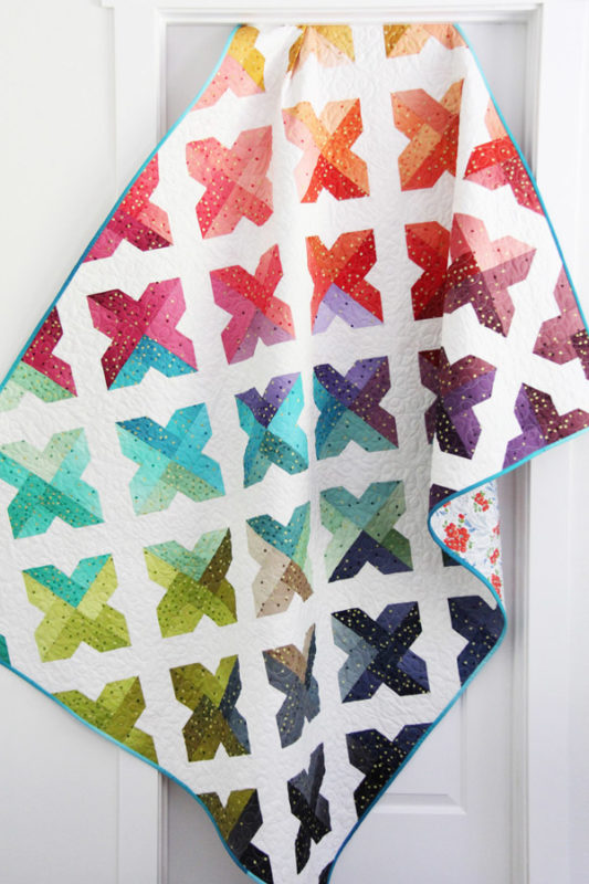 Trellis, a jelly roll, layer cake, or fat quarter quilt in 4 sizes