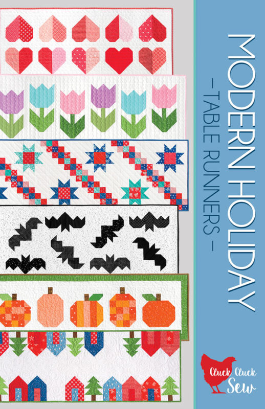 Modern Holiday Table Runners, 6 table runner patterns in one booklet