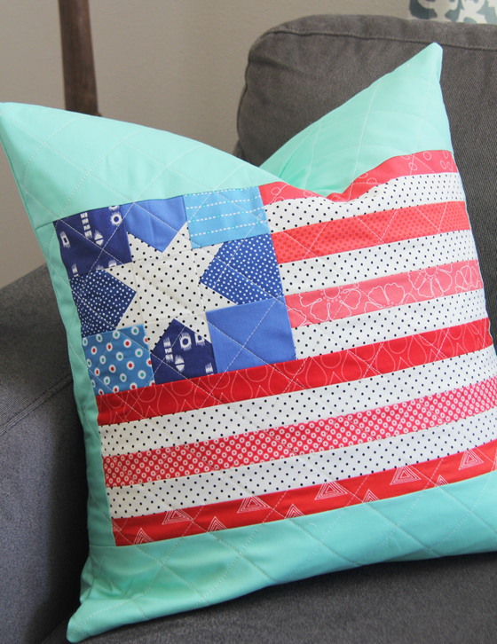 Flag pillow and block | Memorial Day Crafts You Can Make To Show Your Patriotism | Sewing.com