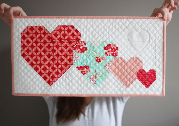 I Heart You Mini Quilt, Free Pattern