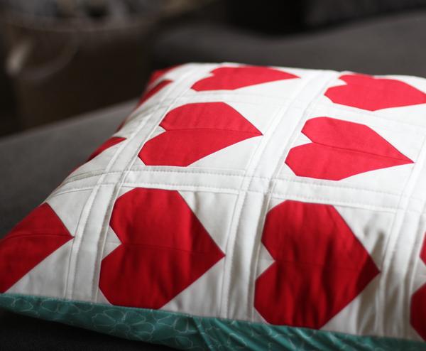 Red Heart Pillow, Cluck Cluck Sew