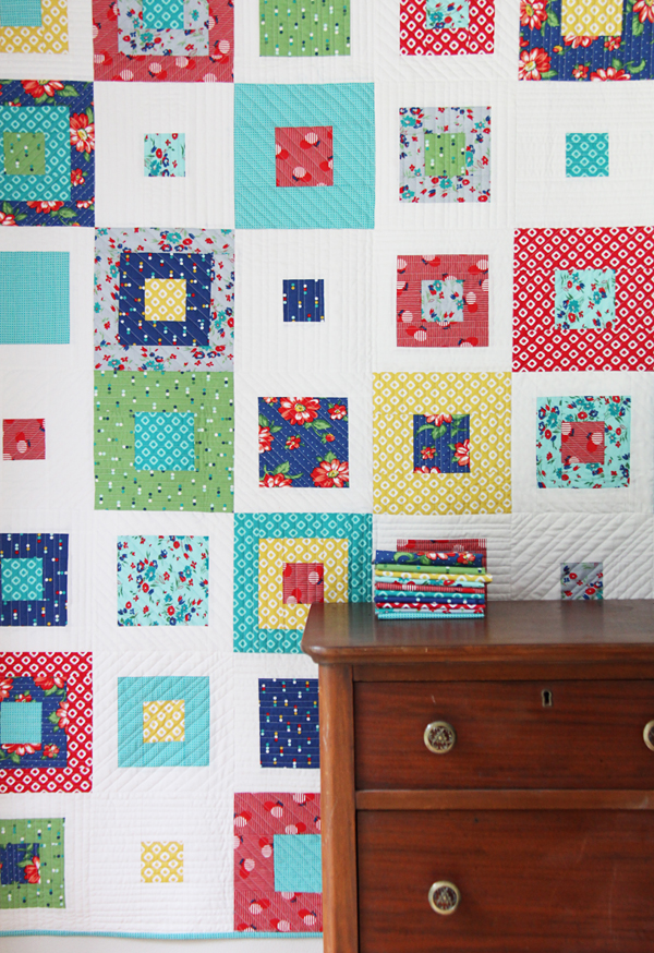 Skipping Squares Quilt, Cluck Cluck Sew