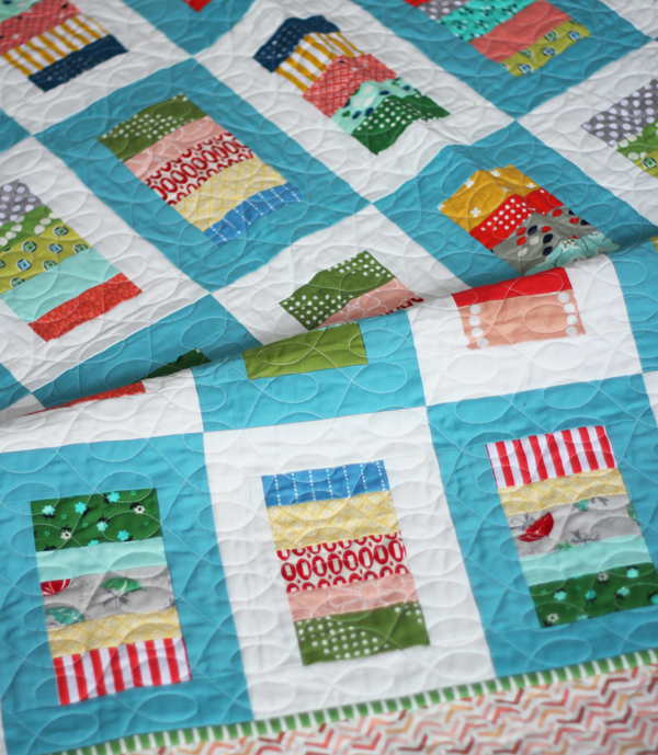 Letterpress Quilt, Cluck Cluck Sew