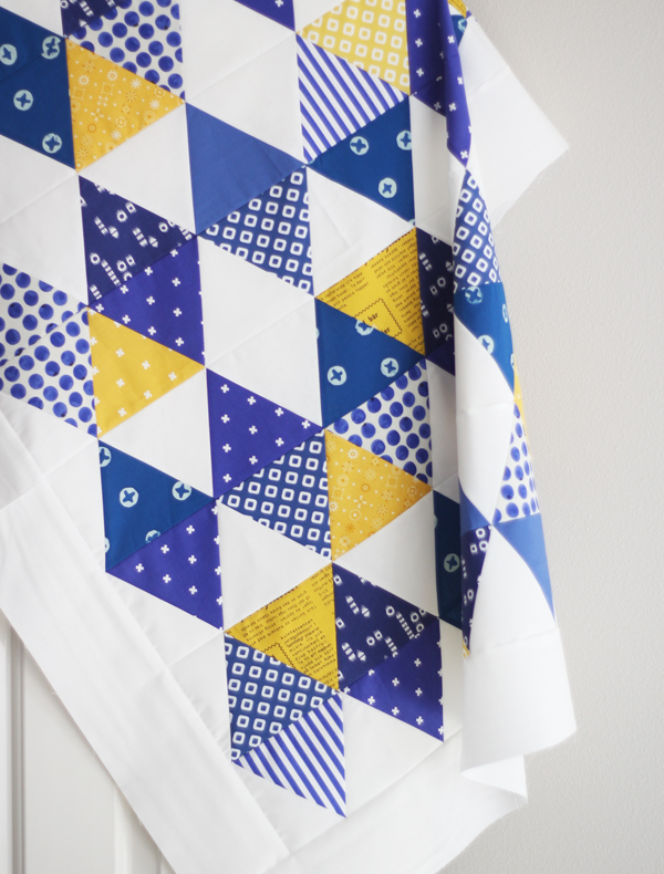 Indigo Triangle Quilt, Cluck Cluck Sew
