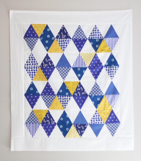 Indigo Triangle Quilt Top