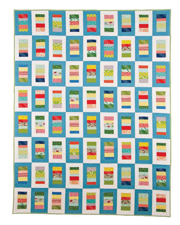 Letterpress Quilt, Cluck Cluck Sew
