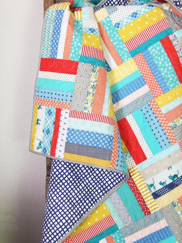 Scrappy Strips Quilt, Tutorial