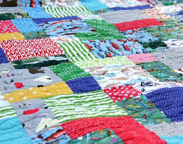Ben's fish quilt