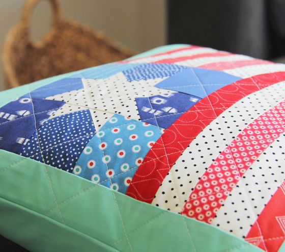 Flag Pillow Quilt Block Tutorial