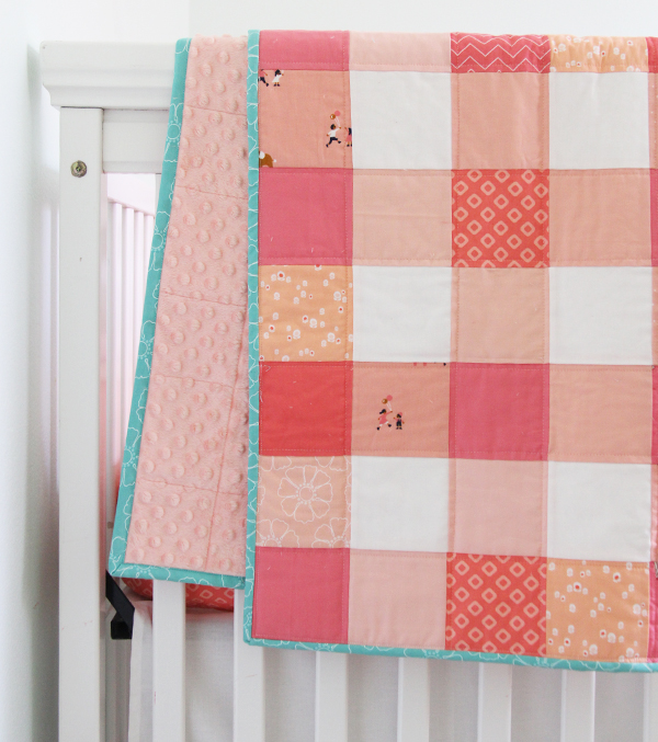 GIngham Coral Quilt