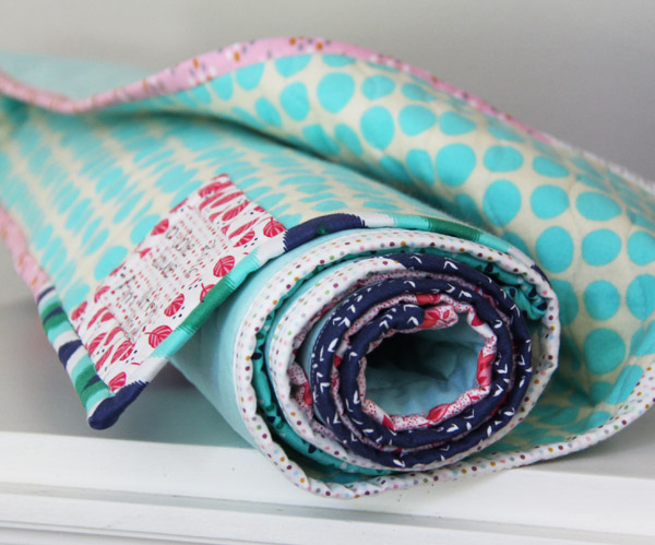 Scrappy Binding Aqua Charms quilt