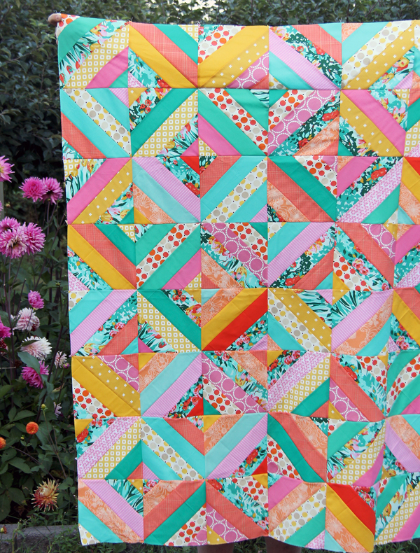 Spring Strips Quilt Top