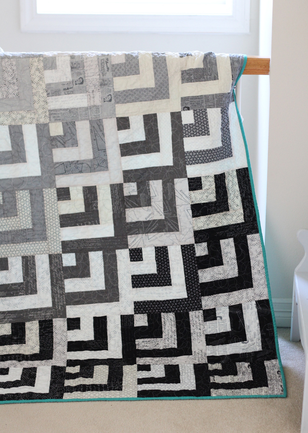 Grayscale Quilt and Block Tutorial