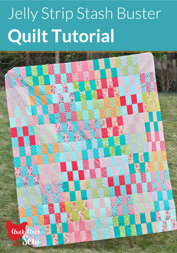 Jelly Strip Stash Buster Quilt Tutorial