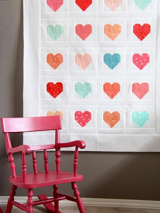 Simple Heart Quilt Tutorial