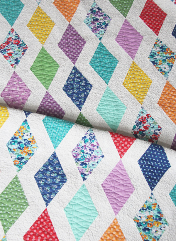 Cascade Quilt Pattern in Hello Jane Fabrics