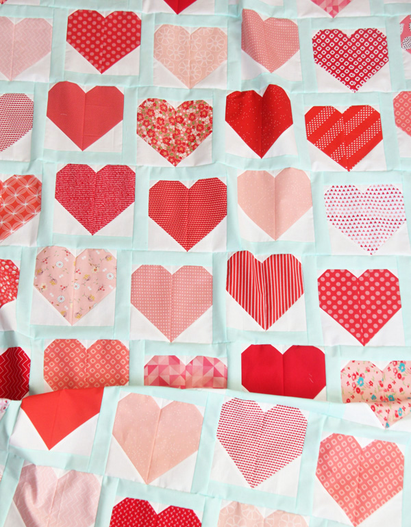 Heart Quilt and Block Tutorial